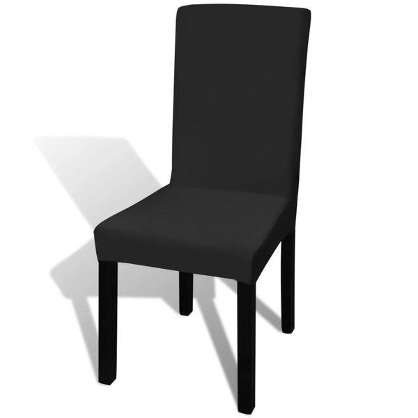 Oryginał Naciągany pokrowiec na krzesło - czarny - 6 szt. • Arena.pl CN84