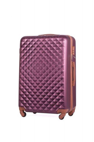 Walizka kabinowa torba podróżna twarda ABS mała S bordowa NOWY MODEL! zdjęcie 1