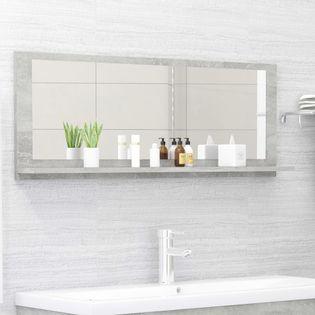 Lumarko Lustro łazienkowe, szarość betonu, 100x10,5x37 cm, płyta wiórowa