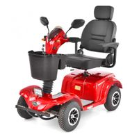 Hecht Wise Red Wózek Skuter Elektryczny Inwalidzki Pojazd Czterokołowy Dla Seniora Akumulatorowy E-Skuter Motor - Oficjalny Dystrybutor -Autoryzowany Dealer Hecht