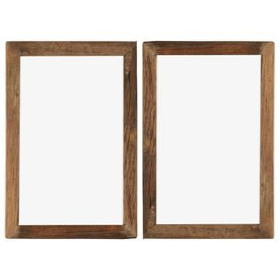 Lumarko Ramki na zdjęcia, 2 szt., 50x70 cm, drewno z odzysku i szkło!