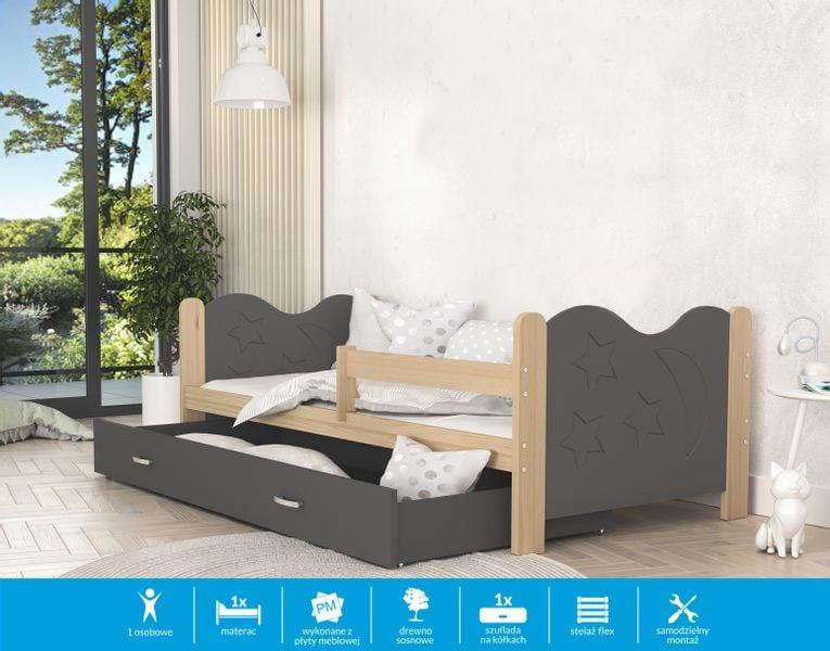 Łóżko dla dzieci MIKOŁAJ 160x80 + szuflada + materac na Arena.pl