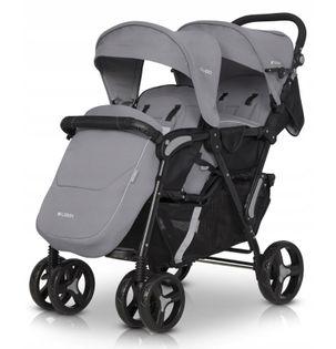 EASY GO Wózek bliźniaczy dziecięcy FUSION kolor PEARL dla bliźniąt
