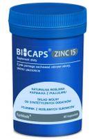 Suplement Bicaps Zinc cytrynian cynku+miedź 60 kapsułek
