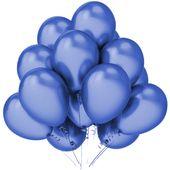 Balony lateksowe niebieskie metaliczne 12 sztuk