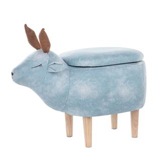 Pufa Tapicerowana Ze Schowkiem Jasnoniebieska Reindeer