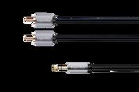Kabel wtyk jack 3.5 - 2RCA stereo 3.0m Kruger&Matz