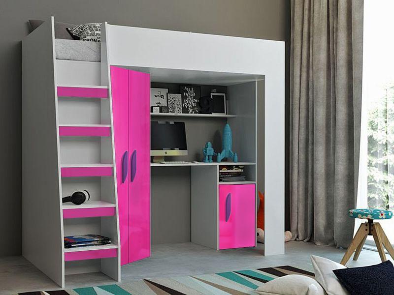 Łóżko piętrowe FIGO antresola szafki zestaw RIBES zdjęcie 3