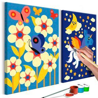 Obraz do samodzielnego malowania - Motyl i jednorożec