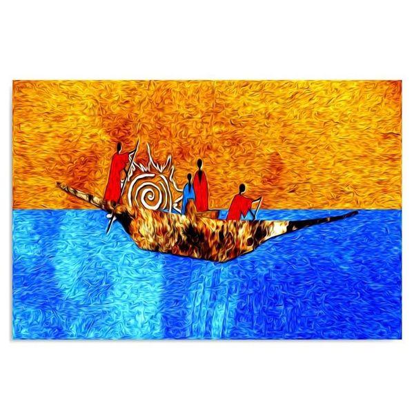 Obraz na płótnie - Canvas, Na łodzi 120x80 zdjęcie 1