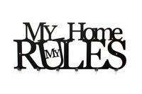 My Home My Rules nowoczesny wieszak na ubrania Mój Dom Moje Zasady