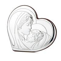 Srebrny Obrazek Matka Boska Chrzest Komunia GRAWER