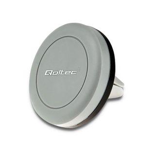 Uchwyt samochodowy MINI Qoltec | magnetyczny | na kratkę | Czarny