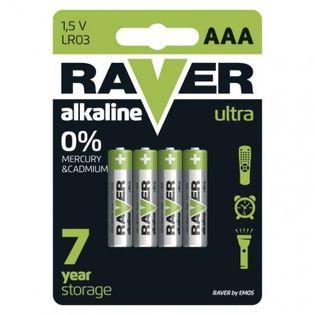 Bateria alkaliczna Raver Ultra Alkaline AAA (LR03) blister 4