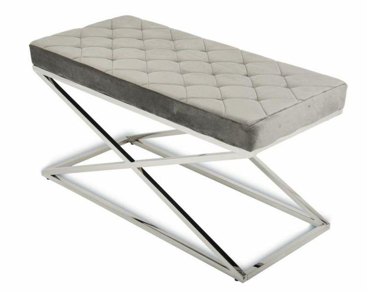 Pikowana pufa siedzisko ławeczka ławka Glamour zdjęcie 5