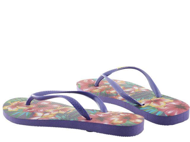 Japonki Havaianas Slim Hibisco Purple 4141590-0719 - 35/36 zdjęcie 6
