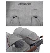 EasyGo Domino wózek dla bliźniąt spacerowy bliźniaczy DENIM wys.0zł zdjęcie 2