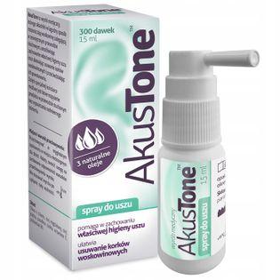 Akustone spray na zatkane uszy15 ml