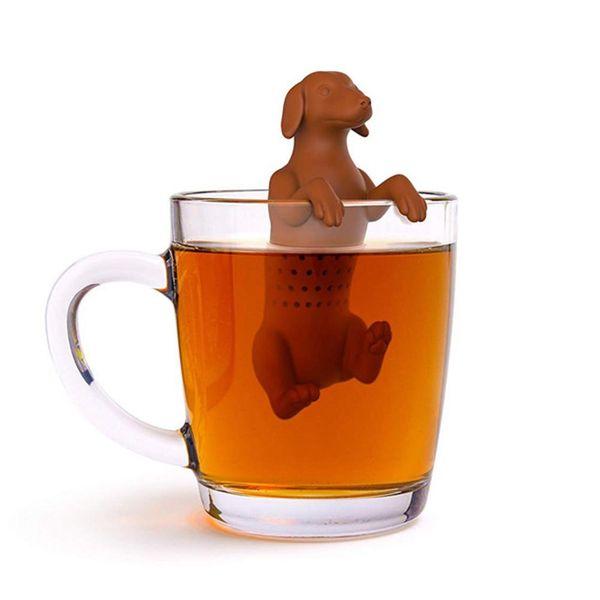 Zaparzacz do herbaty - Pies (Silikonowy) Brązowy na Arena.pl
