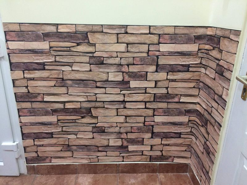 Dekoracyjne Panele ścienne Pcv 3d Sandstone Slate Plastikowe