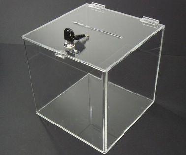 Urna skarbonka puszka skrzynka z plexi 20x20x20cm