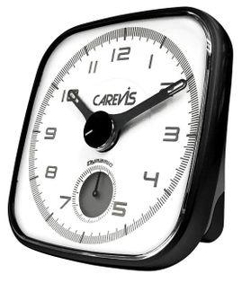 CAREVIS C09 Budzik analogowy, cichy mechanizm, oddzielna tarcza do alarmu, drzemka, podświetlenie