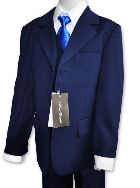 Garnitur chłopięcy + koszula krawat 134/140 zdjęcie 1