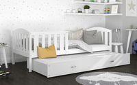 Łóżko wysuwane KUBUŚ P2 COLOR 190x80 szuflada + materace