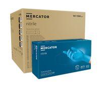 Rękawice nitrylowe bezpudrowe MERCATOR® simple blue M karton 10x100s