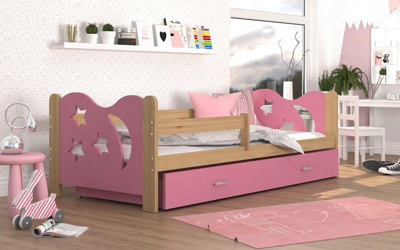 Łóżko dla dzieci MIKOŁAJ 190x80 + szuflada + materac zdjęcie 2