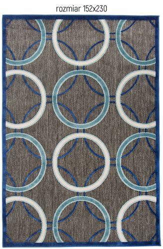 Dywan Turquoise Swirl 152x230 Nature Collection grafit płasko tkany na Arena.pl