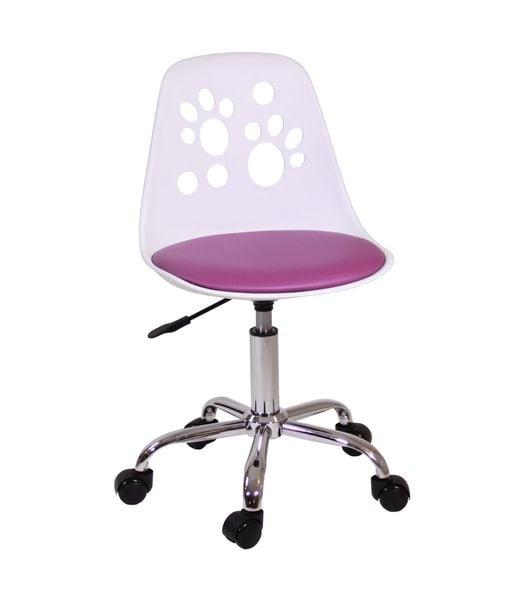 Krzesło obrotowe model foot dla dziecka Fiolet zdjęcie 1