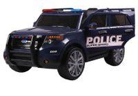 AUTO NA AKUMULATOR POLICJA Z MEGAFONEM I RADIEM, MIĘKKIE KOŁA, WOLNY START, PILOT 2.4 Ghz,SKÓRA FOTEL /9935