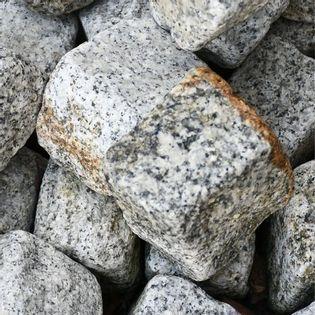 Kostka Granitowa 8 x 11 cm SZARO-ŻÓŁTA Obtaczana 1 KG