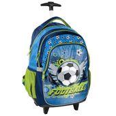 Lekki plecak szkolny na kółkach Paso, piłka nożna