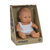 Lalka chłopiec Europejczyk 21cm Miniland Baby