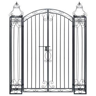 Ozdobna brama ogrodowa z kutego żelaza 122x20,5cm wys. 160cm