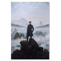 Obraz na płótnie - Canvas, Reprodukcja obrazu C. D. Friedricha – Wędrowiec nad morzem mgły 40x60