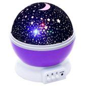 Lampka nocna dziecięca projektor gwiazd nieba obrotowa Y67 zdjęcie 10