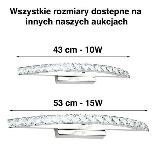 Lampa nad lustro Kinkiet łazienkowy kryształki LED 53 cm 15W 6030-15W na Arena.pl