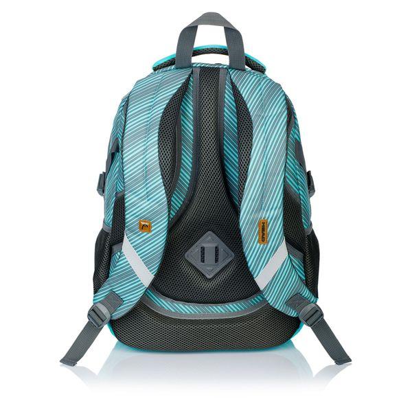 Plecak szkolny młodzieżowy Astra Head HD-72, miętowy w szare paski zdjęcie 2