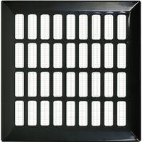 Kratka wentylacyjna 14x14 czarna prosta metalowa