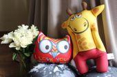 Relaksacyjna poduszka 3D na prezent - Żyrafa zdjęcie 4