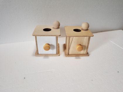 Pudełko z Szufladką Montessori Faktura