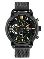 ZEGAREK MĘSKI NAVIFORCE HUSLER 2 (zn028c) - black/yellow