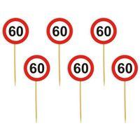 Dekoracja ozdoba piker 60 URODZINY znak Traffic x6
