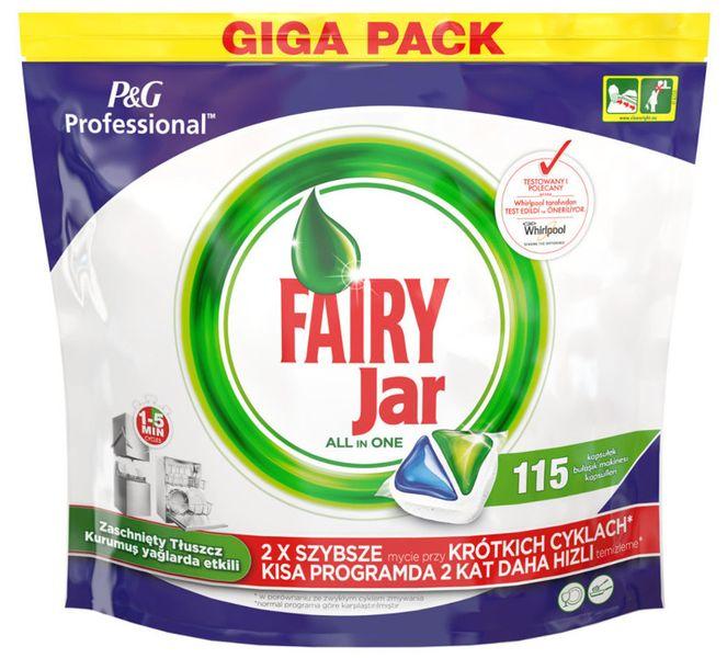 Kapsułki do zmywarki Fairy Jar All in One Professional 115 sztuk zdjęcie 1