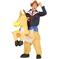 strój KOWBOJ cowboy na koniu dmuchany KOŃ roz M/L