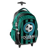 Lekki plecak szkolny na kółkach Football, Paso