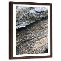Obraz w ramie brązowej, Skała 40x60